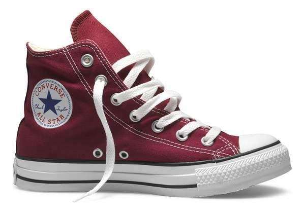 converse cipő magas szárú bordó